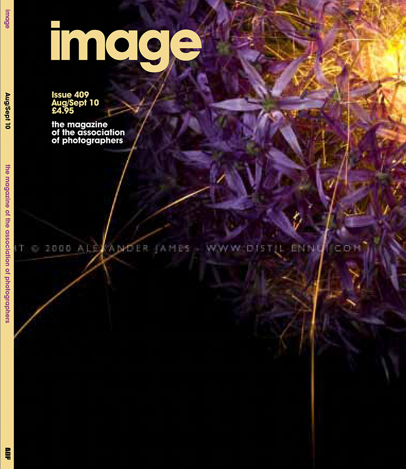 interview with the Association of photographers featured on the cover of the AOP Magazine