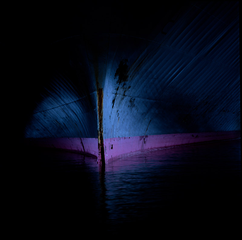 I created a series on Shipping Container Vessels as seen from the water line, photographed from a little rowing boat in the busy harbours of the world. I could never imagine being able to get close to these vessels ever again.