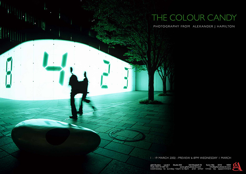 The Colour Candy exhibition a collection of artist hand prints mixing philosophy, continents & colours