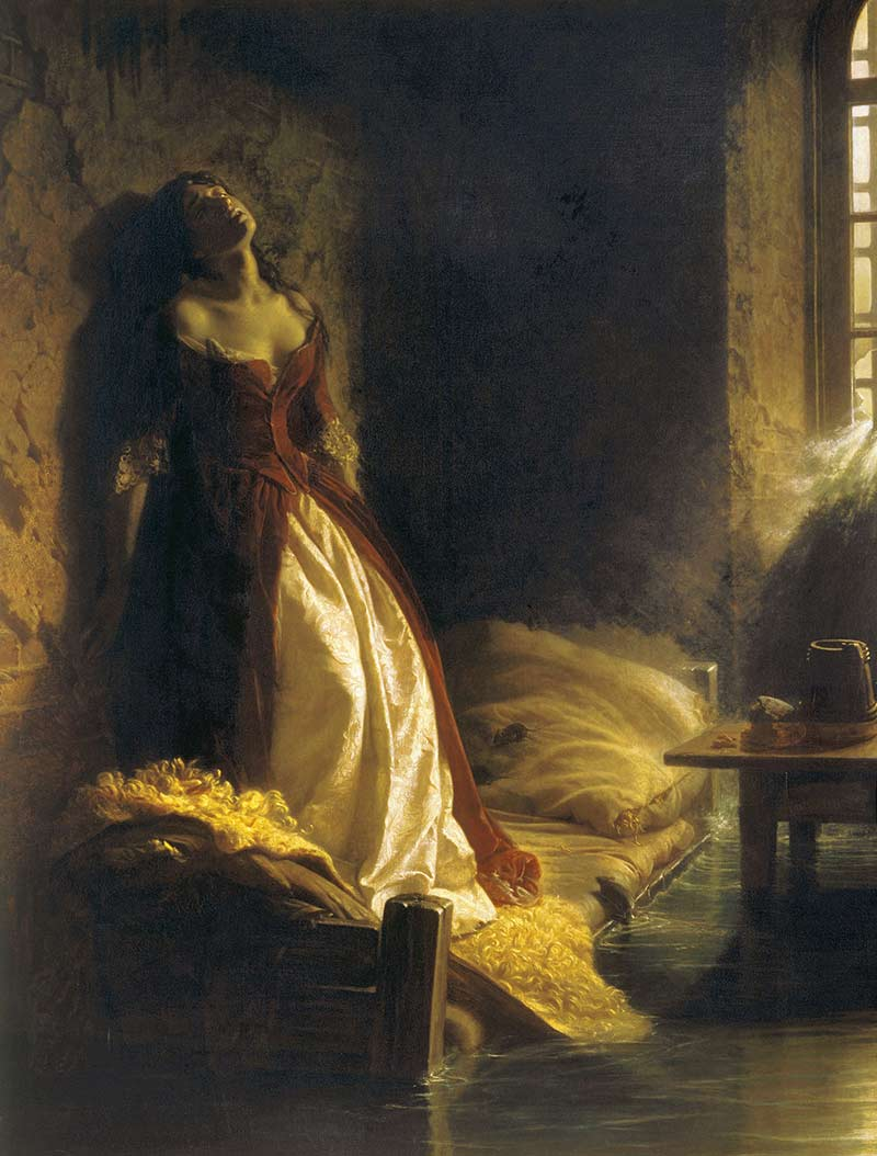 My fascination with a painting of Princess Tarakanova hanging in Moscow dated 1864 by Konstantin Flavitsky