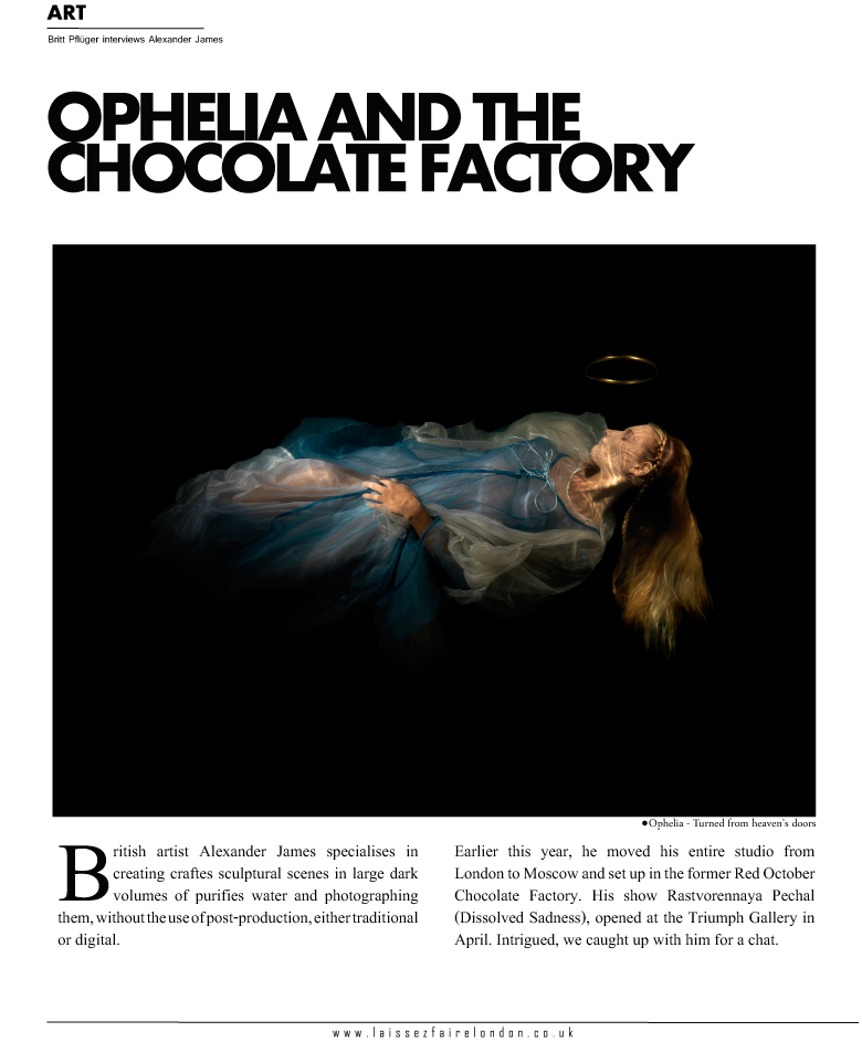 Laissez Faire interview discussing the Russian project Ophelia and the chocolate factory