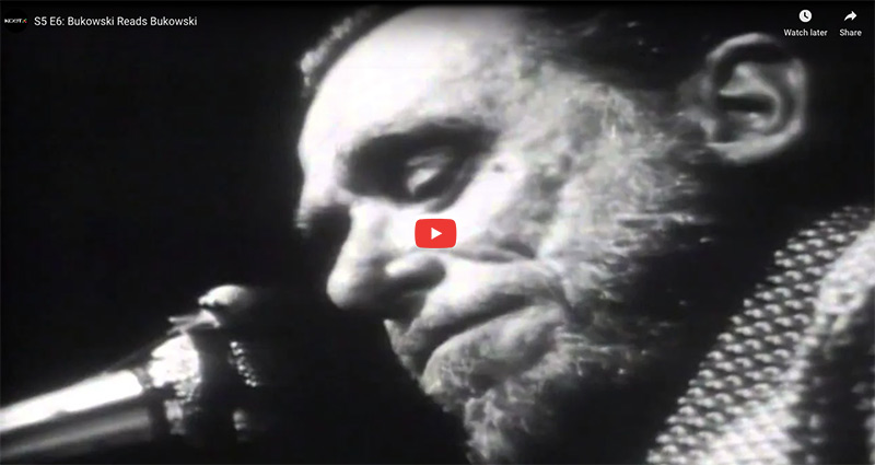 a raw & touching Bukowski reading filmed in 1972 short and insightful